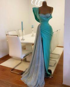#mint #glitter #details #crystals by #donamatoshi #new Elegant Dresses Classy, Stunning Dresses, Classy Dress, Beautiful Gowns, Pretty Dresses, Sexy Dresses, Fashion Dresses, Gala Dresses, Event Dresses