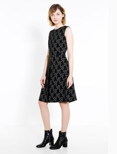 """Dress """"Fit & Flare"""" from Ottoman-Jersey"""