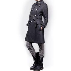Femmes manteaux de laine à double boutonnage