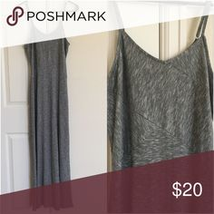 Maxi Dress Grey maxi dress. Adjustable straps. Size small. New with tags/never worn Mossimo Supply Co Dresses