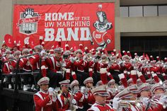 Badger band performs at Union South.