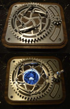 this is how a machinist gets hitched! This is a locking mechanical iris box for an engagement ring that was completely designed and built by O'Bannon Custom Designs. Latest Electronic Gadgets, Electronic Gifts, Bijou Geek, 3d Cnc, Custom Pc, Cool Electronics, Mechanical Design, Mechanical Projects, Mechanical Engineering