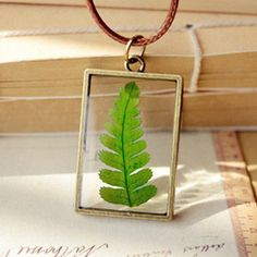 Een persoonlijke favoriet uit mijn Etsy shop https://www.etsy.com/listing/394640297/fern-necklace-real-pressed-leaf-jewelry