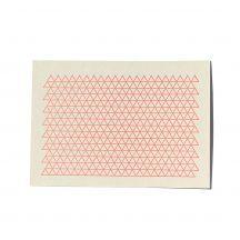 letterdance Triangels NEON, letterpress postcard