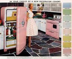 Vintage Appliances, Home Appliances, Domestic Appliances, Vintage Poster, Retro Home Decor, 1950s Decor, Mid Century House, Vintage Pink, Vintage Ads