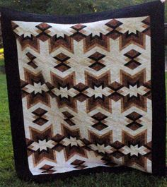 Found in Not Your Grandmother's Log Cabin, page 86 - Native Blanket by Ellen This is beautiful