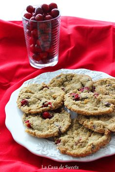 Gluten Free Cranberry Coconut Chocolate Chip Cookies