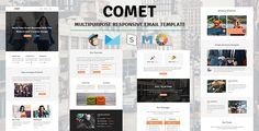 Comet - Email Template Multipurpose Responsive with Stampready Builder Access . COMET responsive email newsletter template designed for general, personal, corporate, business and office