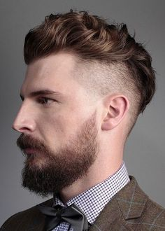 10 Short Brown Side Shaved Wavy Hairstyle for mens 2018