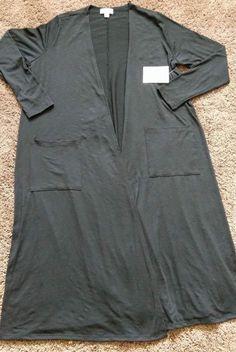 Lularoe Black Sarah Cardigan Sz Medium NON RIBBED  | eBay