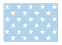 Krima & Isa - Postkarte Sterne blau