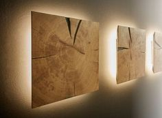 Dryad Interior Collection wall element with lighting end grain solid oak - M - - Dryad Interior Kollektion Wandelement mit Beleuchtung Hirnholz Eiche massiv – M Dryad Interior Collection wall element with lighting End grain solid oak – M … Lamp Design, Wood Design, Hallway Ideas Entrance Narrow, Lampe Decoration, Creation Deco, Wooden Lamp, Wooden Decor, Home Lighting, Interior Lighting