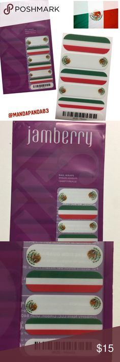 """Jamberry Mexico 🇲🇽 Nail Wraps NWT 🇲🇽 Show your Mexican Heritage with these """"Mexico"""" wraps! Lasts for weeks! Instructions sent with purchase! Jamberry Accessories"""