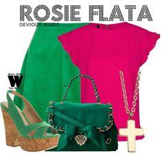 Inspired by Dania Ramirez as Rosie Flata on Devious Maids.