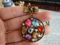 Vintage style with Colorful beas and Bow Fashion necklace