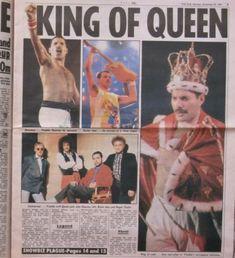 Freddie Mercury | King of Queen King Of Queens, Real Queens, Freddie Mercury Quotes, Brian Rogers, We Are The Champions, Queen Band, Killer Queen, Rock Legends, Queen Quotes