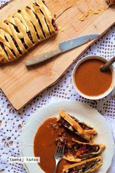 Vegansk flettet linsebrød med valnødder og butterdej