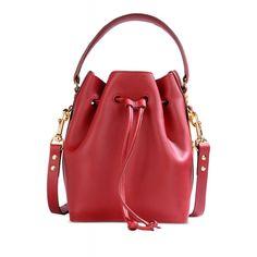5376735816ba14 Sophie Hulme Red Bucket Bag - Medium Leather Bag - ShopBAZAAR Sophie Hulme,  Red Bags