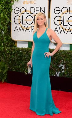 Reese Witherspoon in Calvin Klein - 2014 Golden Globe  Awards
