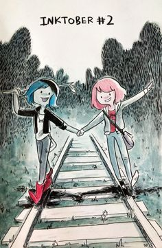 Another one of these | Pricefield | Bubbline | Sugerless Gum | Life is Strange | Adventure Time | Chloe Price | Max Caulfield | Marceline Abadeer | Princess Bubblegum