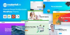 Materialize - Material Design Multipurpose WordPress Theme - Business Corporate
