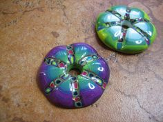 New bead shapes from a mold she made herself. By Guadalupe Meter of Gem's Creations.