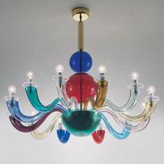 Gio Ponti , Multicolore Wall and Pendant Lamp