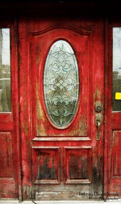 Fine Art Photography  red door city windows by TiffanyDawnSmith, $28.00