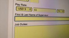 Online job app tip