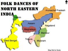 Folk Dances of East and North-Eastern India consists of many colors and different syles which are not usually seen within India.
