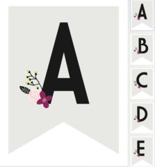 Free Printable Letter and Number Floral Bunting by Miss Design Berry …