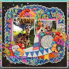 Day Of The Dead Mexico, Scrapbook Page Layouts, Scrapbook Pages, Cactus, Guitar Stickers, Scrapbook Background, Digital Scrapbooking, Scrapbooking Ideas, Pocket Cards