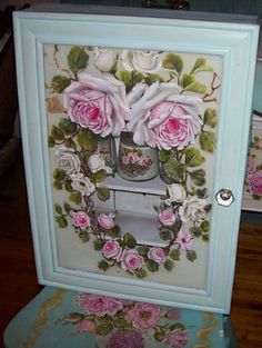 497 Best Flowers Roses Painted On Furniture Images In 2019 Rose