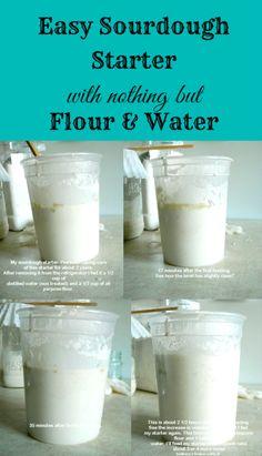 how to make sourdough starter, easy sour dough starter, how to,