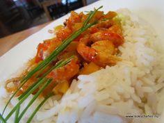 Indienne är en klassiker från restaurangen där den serverats både som trevlig förätt på en toast, eller som en större portion med ris då som varmrätt.
