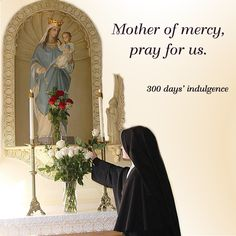 Mother of mercy, pray for us. Catholic Quotes, Catholic Prayers, Religious Art, Religious Pictures, Christian World, Miracle Prayer, Mama Mary, Our Lady Of Lourdes, Holy Mary