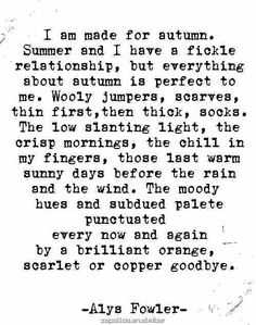 Alys Fowler I Love The Beach, Autumn Leaves, Summer Beauty, Seasons, Fall, Calligraphy, Instagram Posts, City Life, Autumnal