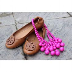 Tory Burch Shoes - Cognac Tory Burch Reva Flats