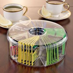 Round Tea Bag BoxInstantly organize and protect your entire collection!  -love tea
