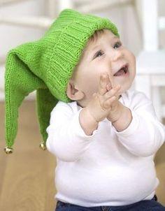 Jingle Jester Baby Hat Knitting Pattern