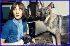 Steve Marriott with his dog, Seamus - who sang on Pink Floyd's Meddle record! Seamus' first vocal performance was on the Small Face's single The Universal.
