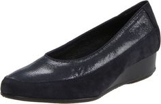 $147.83-$165.00 ara Women's Aron1 Slip-On,Navy Suede With Croco,7 M US - 45030-83-7 Color: Navy Suede, Size: 7 Available in Multiple Colors! Aron Pump by Ara Features: -Women's Aron Pump in Black Patent Leather. -Available in whole and half sizes. -Available in G (medium-full medium) width only. -The upper is constructed from leather or suede. -Part of the Aron collection. -Available in your choic ...