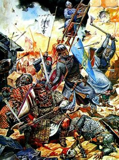 Siege of Acre 1291 - Guillaume de Clermont Defending Ptolemais from the Saracen invasion. The fall of Acre signaled the end of the Jerusalem crusades. No effective crusade was raised to recapture the Holy Land afterwards, though talk of further crusades was common enough. By 1291, other ideals had captured the interest and enthusiasm of the monarchs and nobility of Europe and even strenuous papal efforts to raise expeditions to retake the Holy Land met with little response.