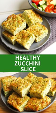 This healthy zucchini slice is perfect for meal prep – quick and simple to whip up and absolutely delicious! Enjoy as is or throw in some extra veggies for something different! Easy Healthy Recipes, Lunch Recipes, Gourmet Recipes, Healthy Snacks, Vegetarian Recipes, Easy Meals, Cooking Recipes, Simple Zucchini Recipes, Dog Recipes