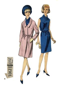 Vintage 1960s Vogue 6698 Cowl Neck Dress by DesignRewindFashions, $12.00