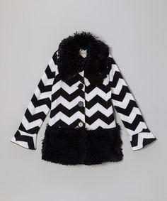 Loving this Black Pretty in Paris Shaggy Coat - Infant, Toddler & Girls on #zulily! #zulilyfinds