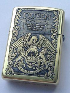 Queen Zippo lighter. Cool Lighters, Cigar Lighters, Zippo Usa, Light My Fire, Zippo Lighter, Hand Engraving, Edc, Blunt Art, Engraved Zippo
