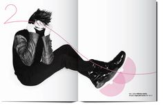 Fashion magazine layout / 2010 by kissmiklos , via Behance