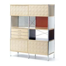 Bookcase designed in 1949 by Charles & Ray Eames. Love the vintage modern vibe.