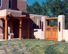 This modern builing was most probably inspired by Southwestern architecture because of its similarities.